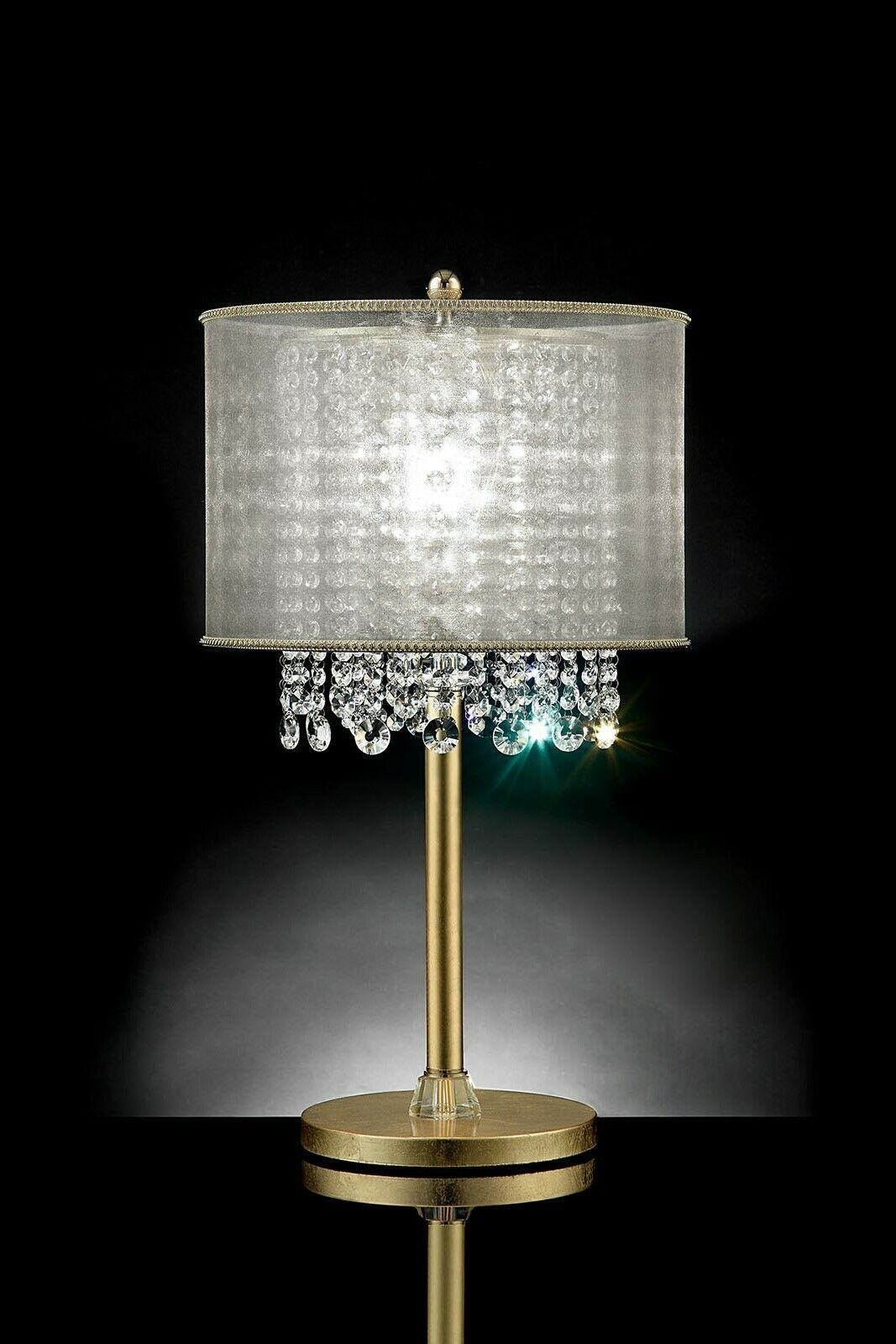 Imported Hanging Crystal Table Lamp Bedroom Home Decor Beautiful