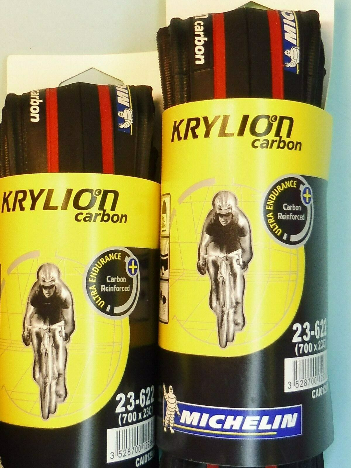 Due - Michelin Krylion ( Rosso Nero. 700 - 23) Pneumatici   Nos