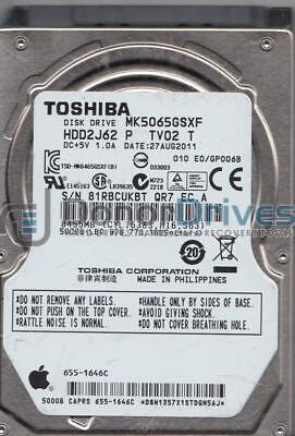 Toshiba 500GB SATA 2.5 Hard Drive E0//GP006B HDD2J62 P TV02 T MK5065GSXF