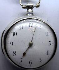 Un VECCHIO ARGENTO Orlo COPPIA caso Orologio Tasca di Rob ponti LONDON 1824