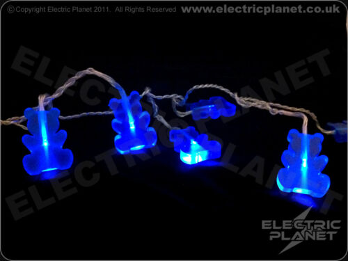 Low Voltage Blue Teddy Bear Portable Battery-Powered LED Stringlights