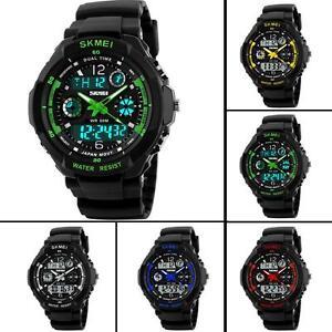 Mens-Boys-Waterproof-Digital-Shock-Sports-Wrist-Watch-Skmei-G-LED-Quartz-5-ATM