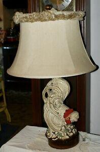 Antique-Vintage-Handsome-Fancy-Rooster-Ceramic-Kitchen-Dining-Room-Lamp
