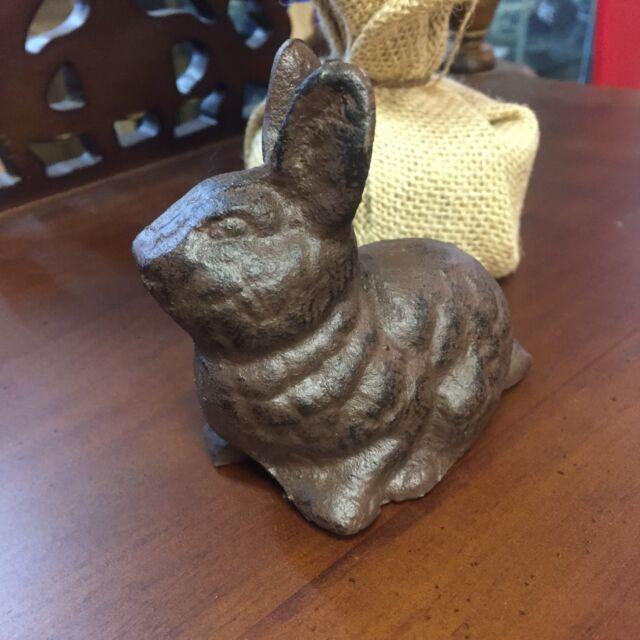 Small Rabbit Garden Statue Bunny Reading Book Figurine Sculpture Yard Accent For Sale Online Ebay