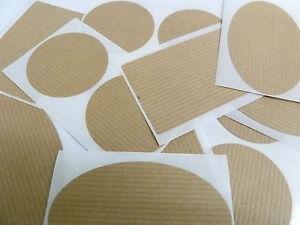 Mini-Pack-de-pegatinas-marron-claro-estraza-Etiquetas-autoadhesivas-3-formas