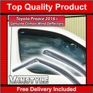 TOYOTA-PROACE-2016-gt-GENUINE-CLIMAIR-FRONT-WIND-DEFLECTORS-WINDOW-SMOKED-VERSO
