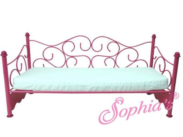 """Hot Pink Wire Day Bed SoFa CouCh Furniture for 18"""" American Girl Dolls"""