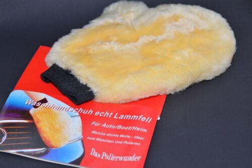 Echt Lammfell Wasch und Polierhandschuh Waschhandschuh für Auto Boot Heim Pferd