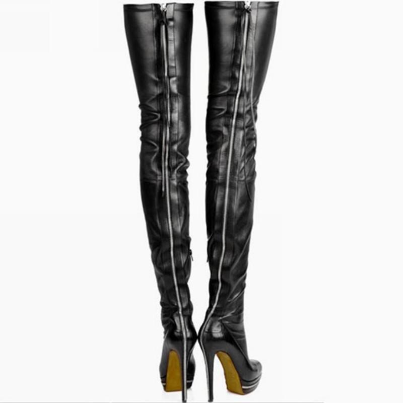 prezzi equi Stiletto Heel Platform donna's Zip Over Over Over The Knee Thigh High avvio Pu Leather Sz 7  trova il tuo preferito qui