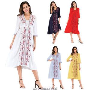 Summer Women Ethnic Embroidery Dress