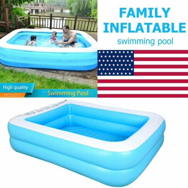 US 52/'/' Family Swimming Pool Home Garden Outdoor Summer Inflatable Kids Paddling