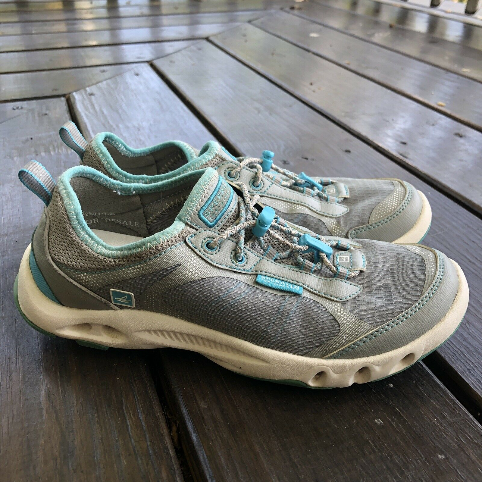 Women's Sperry H2O Escape Bungee Water Outdoor Shoes Blue Gray Size 7 CH210