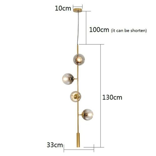Kitchen Pendant Light Modern Ceiling Light Bar Lamp Glass Chandelier Lighting