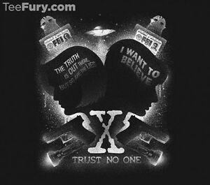 Details about X-FILES Fox Mulder Dana Scully Believe Truth Out There Aliens  JRS T-Shirt (S-XL)