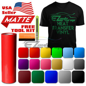 Matte-Heat-Transfer-Vinyl-HTV-Sheets-T-Shirt-20-034-Wide-Roll-Iron-On-Heat-Press