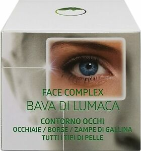 Crema Bava Di Lumaca Contorno Occhi Face Complex 30 ml Borse Occhiaie Rughe