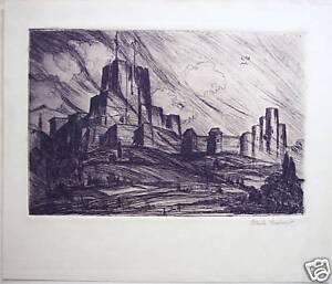 Karl-Belser-034-Dover-Castle-034-1932-Original-Etching