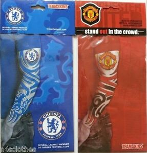 official tattoo manchester united chelsea sleeve slip on
