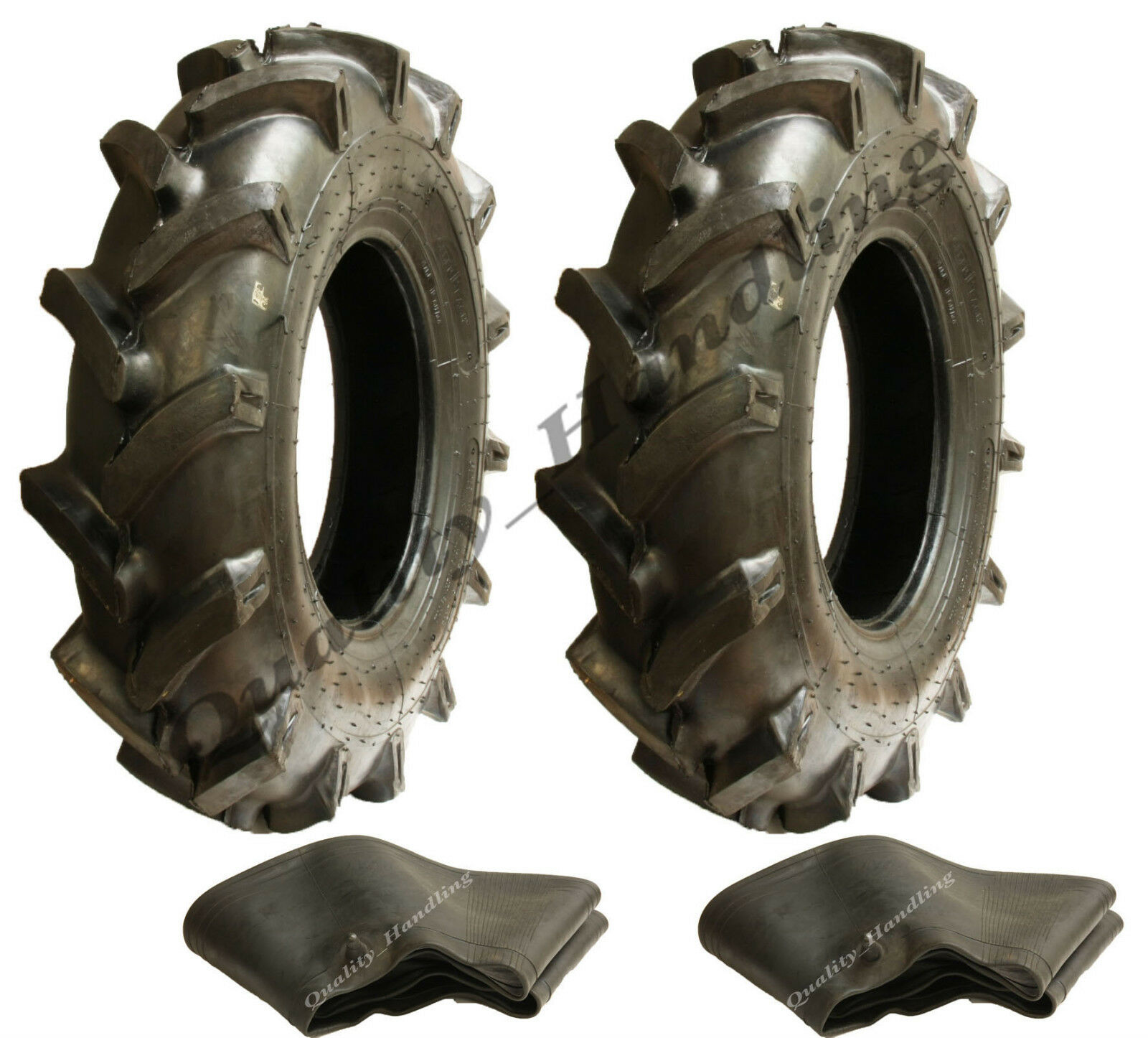 2 - 600 12 (6ply) Cleated Reifen Offen Cente  Rotovator Stecker Winkel +