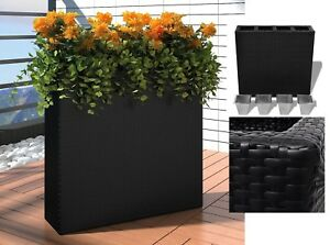 79cm Indoor Outdoor Waterproof Woven Rattan Garden Deck Planter