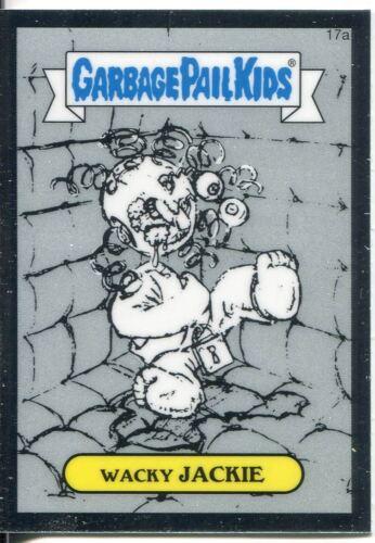 Garbage Pail Kids Chrome Series 1 Pencil Art Base Card 17a WACKY JACKIE