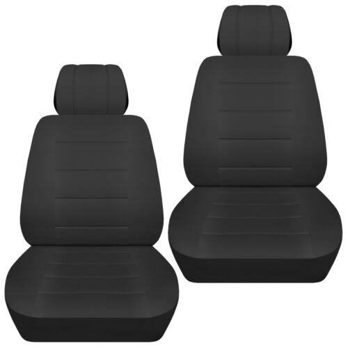 Front set car seat covers fits 1996-2020 Toyota RAV4    solid black