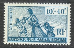 France-1943-MNH-Mi-7-Sc-B7-Refugee-Family-French-Committee-of-Liberation-WW2