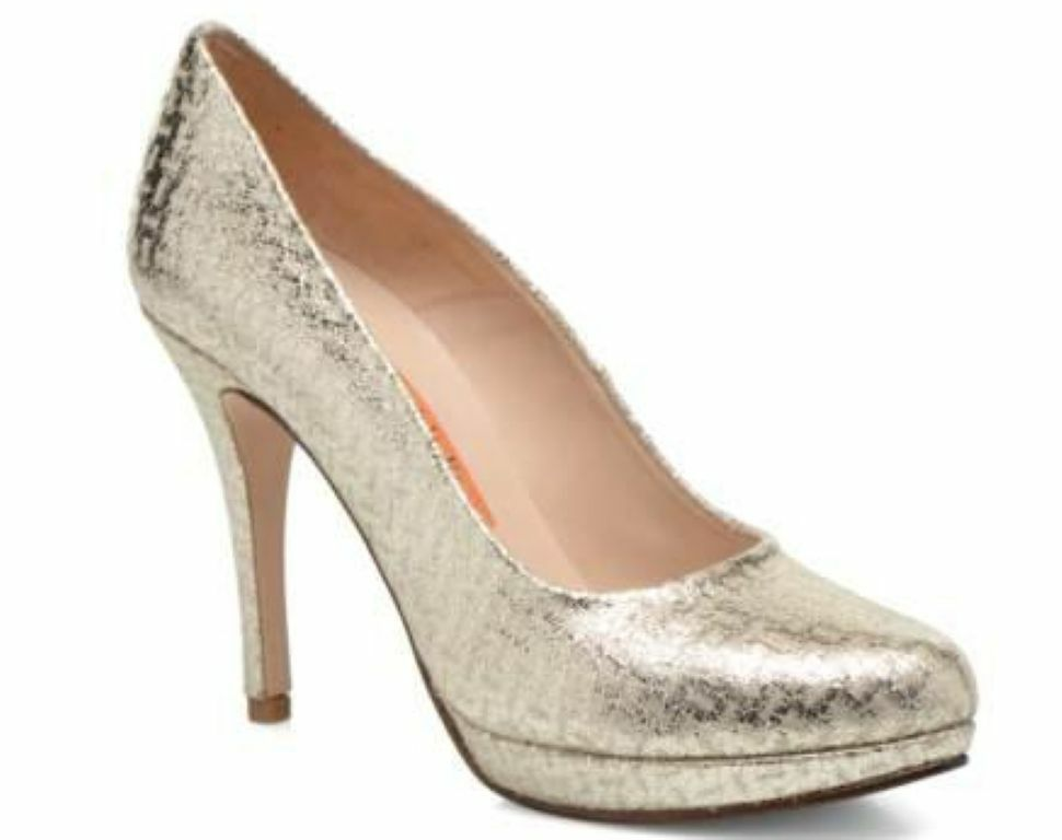ANNA VOLODIA Damens MURLA CHAMPAGNE Copla High heels UK7 EU40 JS20 46