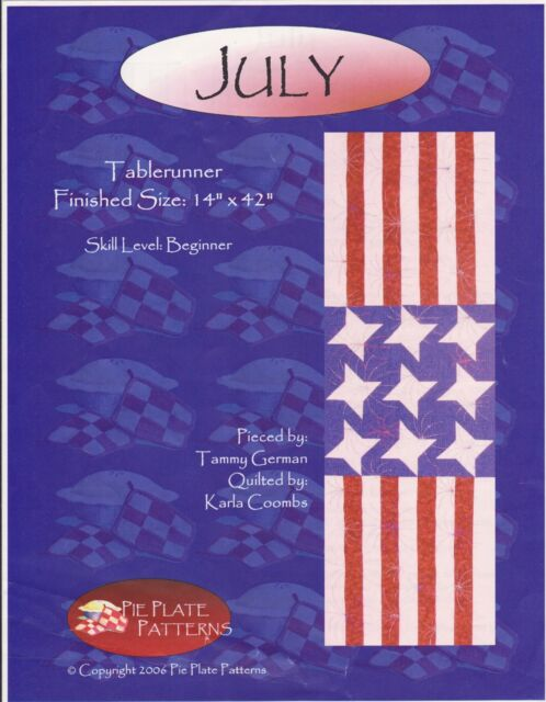 Pleasant Details About Sewing Pattern 4Th Of July Patriotic Pieced Table Runner Quilt 14 X 42 Home Interior And Landscaping Eliaenasavecom