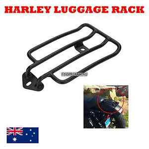 Black-Luggage-Carrier-Rack-support-Solo-Seat-Harley-Sportster-883-1200-2004-2012