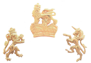 UK Royal Coat of Arms St Edwards Crown Pin Badge In Gold Plated English Pewter
