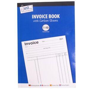 80 SHEET INVOICE DUPLICATE BOOK RULED CARBON COPY VAT RECEIPT PAGE