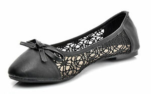 black lace wedding ballerina bridal flat pumps uk 3 4 5 6 7 7 5 ebay