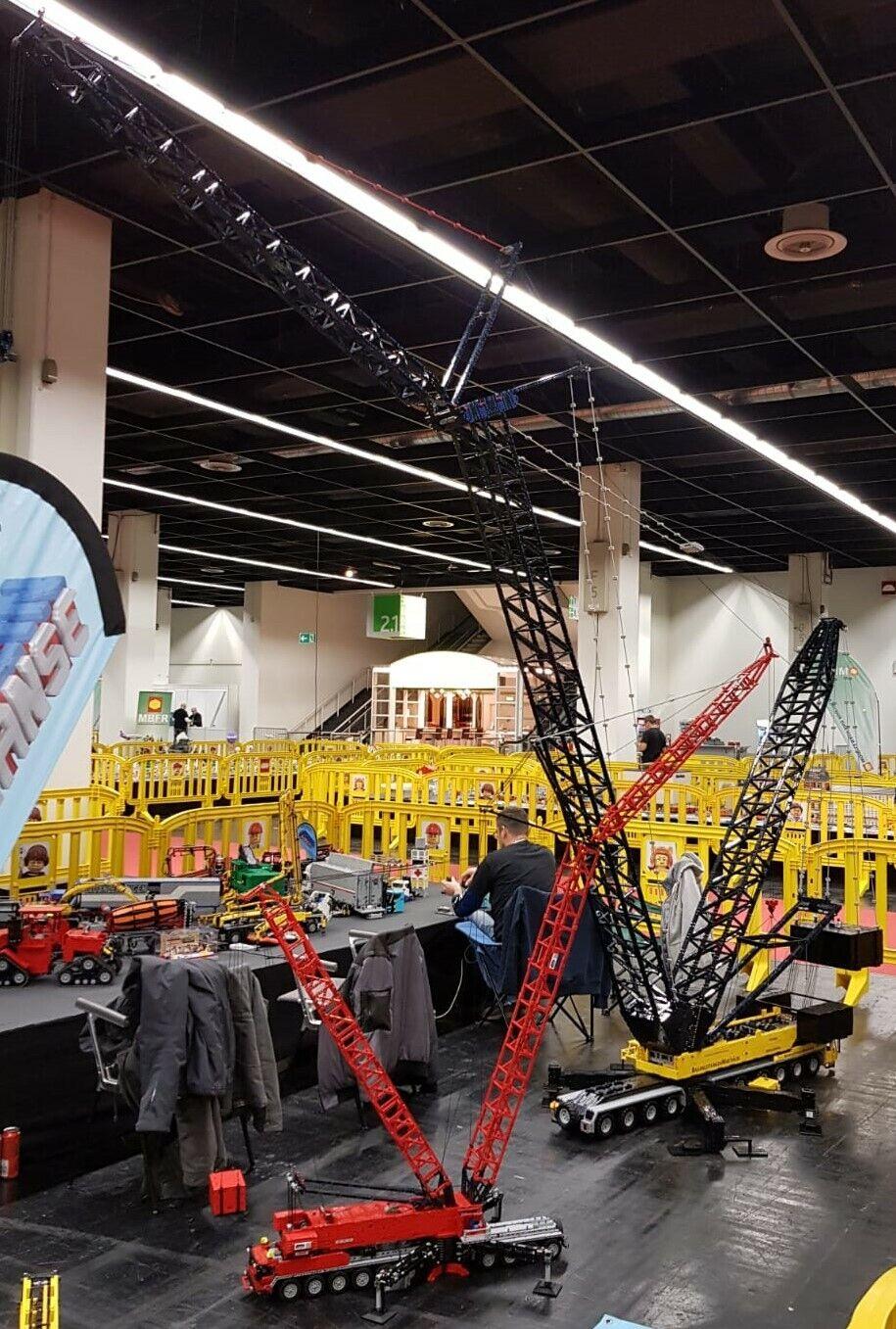 Bauanleitung instruction XXL Gittermastkran Eigenbau Unikat Moc aus Lego Technic