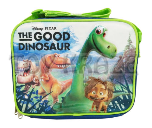 THE GOOD DINOSAUR LUNCH BOX BLUE BLACK INSULATED SCHOOL BAG TOTE NWT