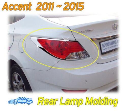 Chrome Rear Lamp Molding Garnish K-581 for Hyundai ACCENT 4-Door Sedan 2011~2017