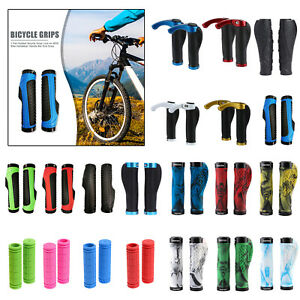 2pcs Bicycle Handlebar Grips Handle BMX MTB Soft Rubber Bar End Mountain Bike