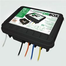 Dribox Large Black Weatherproof Box Waterproof Enclosure 330 for Electric Items