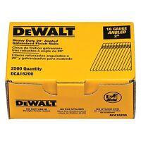Dewalt Dca16200 2in. 16 Gauge 20 Degree Finish Nail (2,500 Per Box)