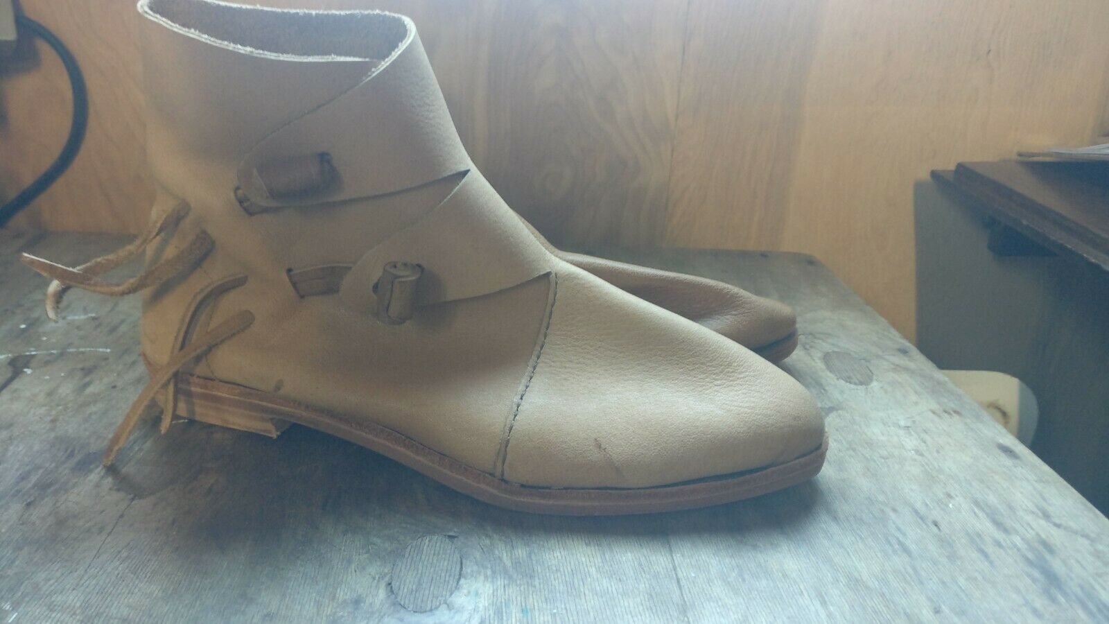 ***CLEARANCE/2ND*** Viking & Saxon Re-enactment hard sole Boots.