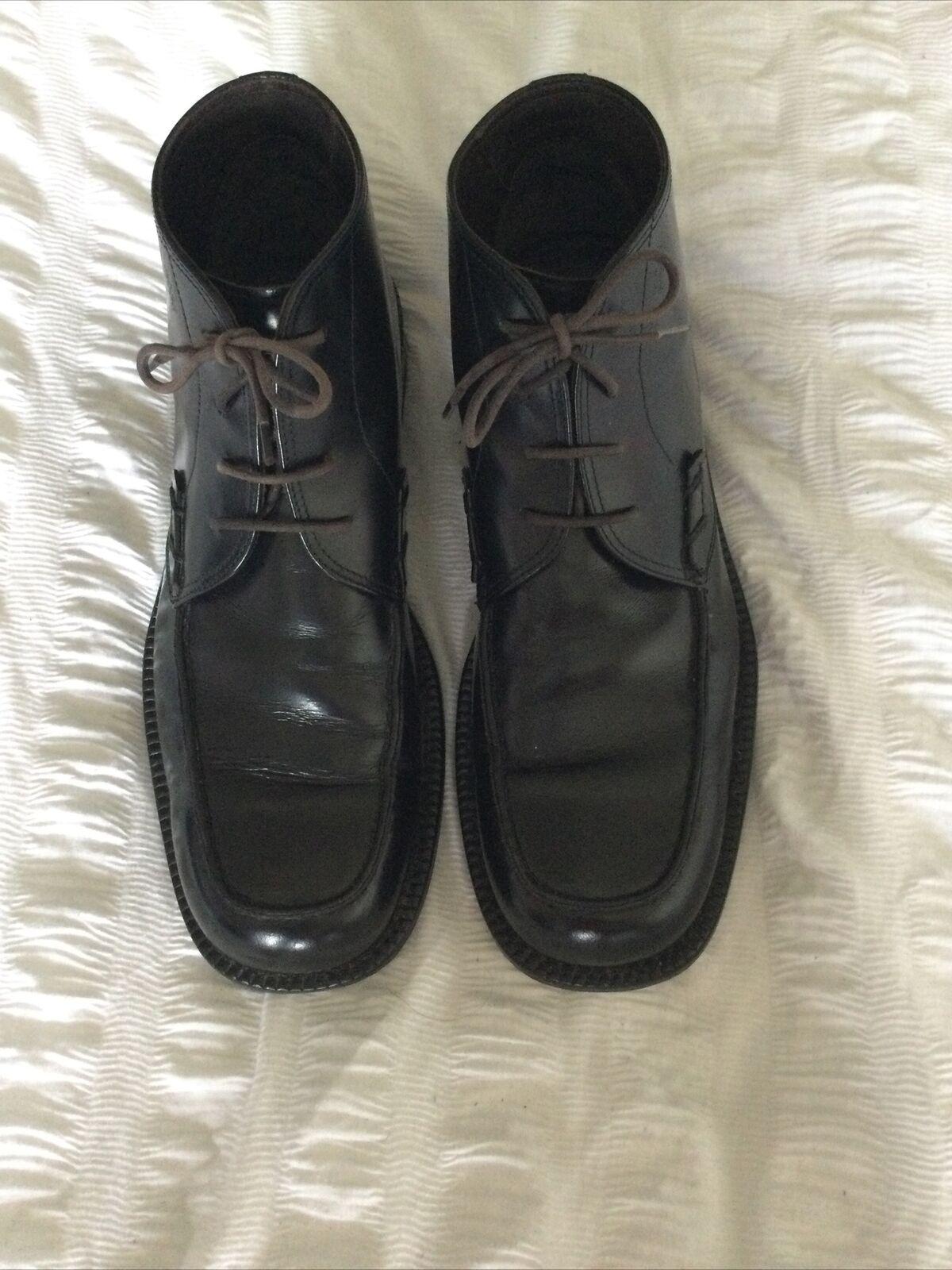 hugo boss boots 8/1/2 Leather.black