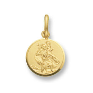 SAINT-CHRISTOPHER-PENDENTIF-OR-JAUNE-SAINT-CHRISTOPHER-10mm