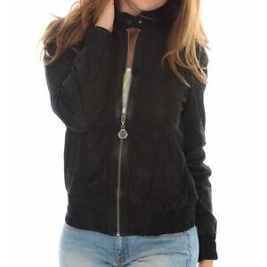 Puma Perforated Leather Zip Jacke Lederjacke Damen schwarz Bikerjacke Jacket NEU