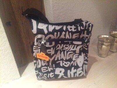 Friedrich Lederwaren Tasche Schultertasche Champ *Größe 25 x 25 cm* schwarz/weiß