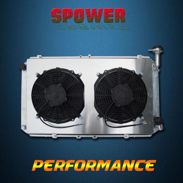 3 ROW For Ford Maverick DA Petrol Aluminum Radiator + 120W Fan Shroud 1988-1995