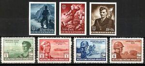 DR WW2 Croatia Rare WWII Stamp 1943-44 Black Legion Carpathian Soldier Ostland