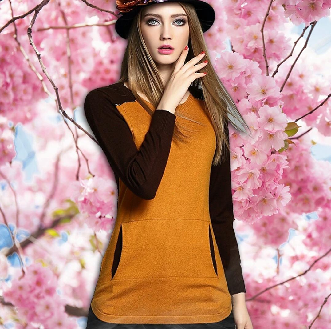 Braun mit Orangefarbenem Kaschmirpullover Größe M, 38 EU, 10 UK, 6US | Rabatt
