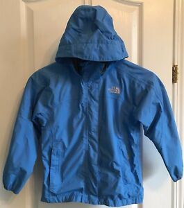 d1ec53951 Details about Girls The NORTH FACE Resolve HyVent Waterproof Rain Jacket  Size S (7/8) Blue