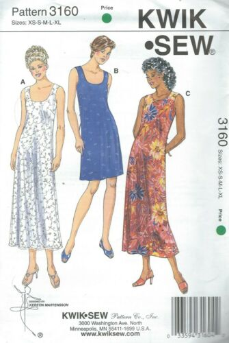 Kwik Sew 3160 Misses/' Dresses 31 1//2 to 45   Sewing Pattern