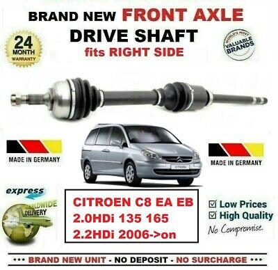 Constructivo For Citroen C8 Ea 2.0hdi 135 165 2.2hdi 2006->on New Front Axle Right Driveshaft